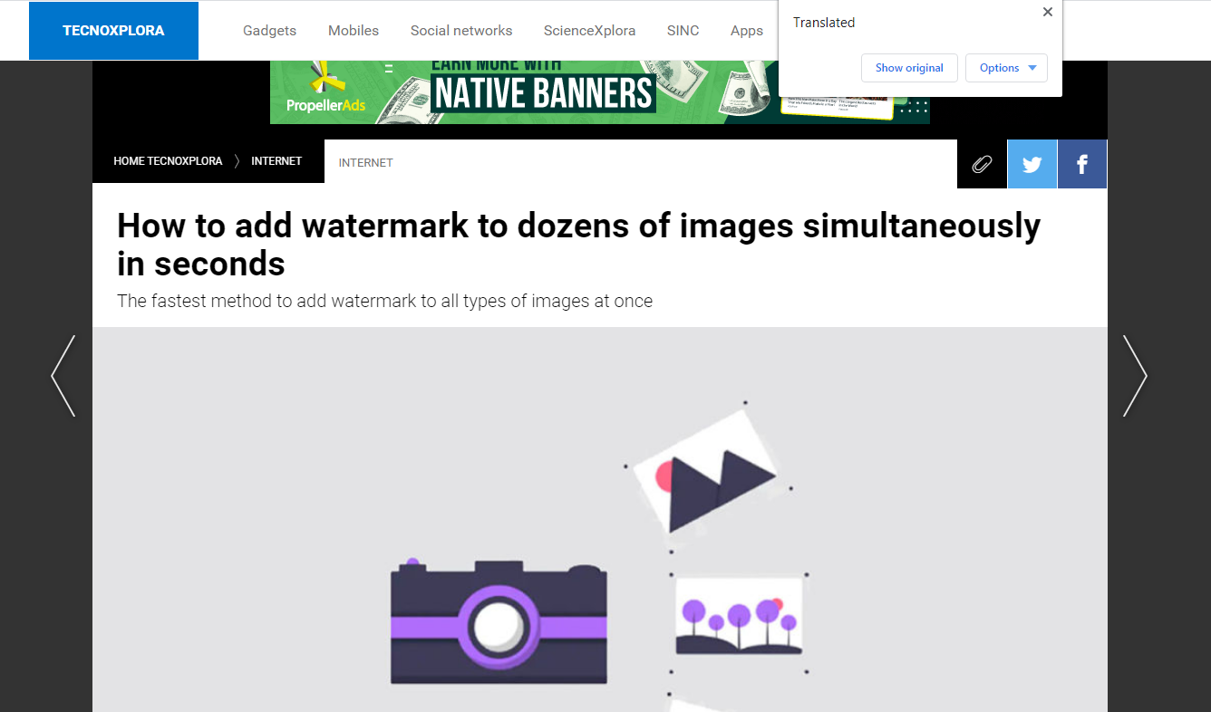 watermarkup is featured on Lasexta