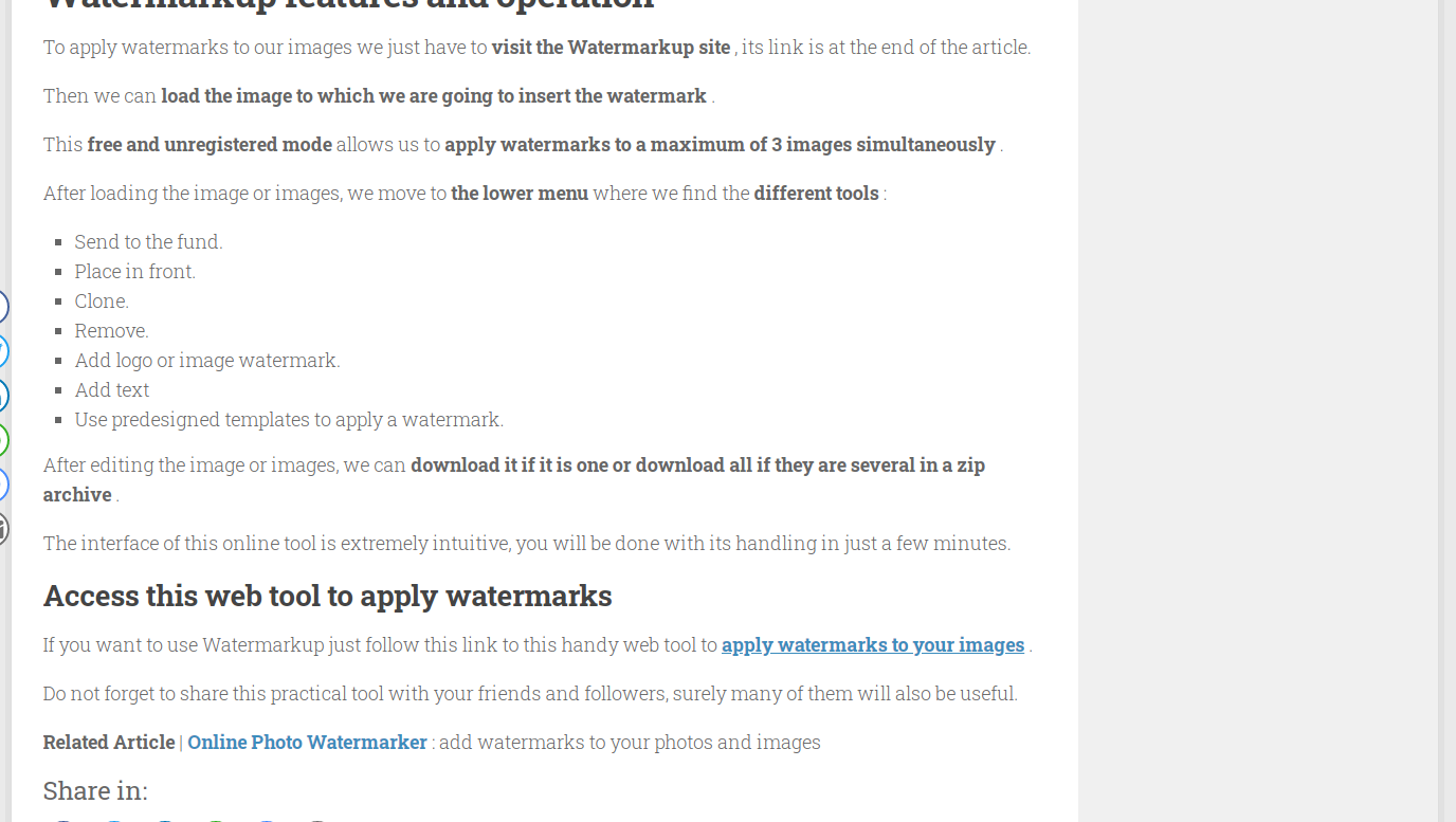 softandapps.info featured Watermarkup