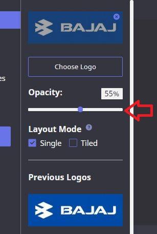 opacity of logo