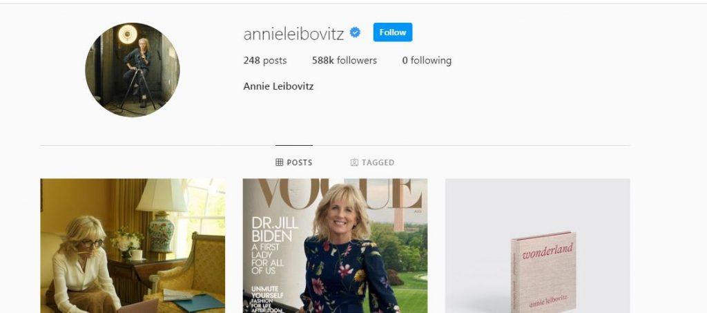 Annie Leibovitz's Instagram